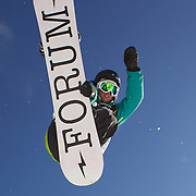 Rebecca Sinclair, New Zealand, in action during the Women's Half Pipe Qualification in the LG Snowboard FIS World Cup, during the Winter Games at Cardrona, Wanaka, New Zealand, 27th August 2011. Photo Tim Clayton...
