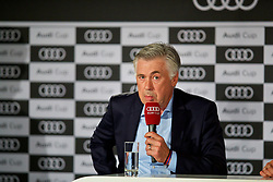 MUNICH, GERMANY - Monday, July 31, 2017: FC Bayern Munich's head coach Carlo Ancelotti during a press conference ahead of the Audi Cup 2017 at the Westin Grand Hotel München. (Pic by David Rawcliffe/Propaganda)