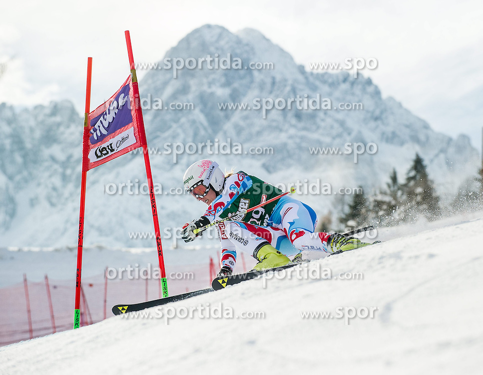 28.12.2013, Hochstein, Lienz, AUT, FIS Weltcup Ski Alpin, Lienz, Riesentorlauf, Damen, 1. Durchgang, im Bild Taina Barioz (FRA) // during the 1st run of ladies giant slalom Lienz FIS Ski Alpine World Cup at Hochstein in Lienz, Austria on 2013-12-28, EXPA Pictures © 2013 PhotoCredit: EXPA/ Michael Gruber