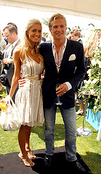 JACOBI ANSTRUTHER-GOUGH-CALTHORPE and KAYLEIGH CURNEEN at the Cartier International polo at Guards Polo Club, Windsor Great Park on 29th July 2007.<br />