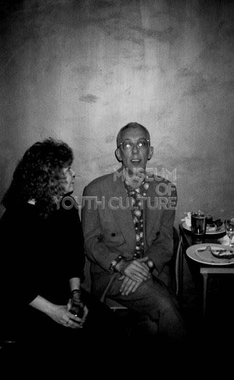 Rob Gretton, manager of New Order in Dry bar,  Manchester 1990's