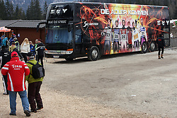 Bus of Austrian ski-jumping team at Flying Hill Team in 3rd day of 32nd World Cup Competition of FIS World Cup Ski Jumping Final in Planica, Slovenia, on March 21, 2009. (Photo by Vid Ponikvar / Sportida)