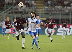 August 3, 2017 - Milan, Italy - Tiago Ferreira during the preliminaries of Europa League 2017/2018 match between Milan v Craiova, in Milan, on august 3, 2017  (Credit Image: © Loris Roselli/NurPhoto via ZUMA Press)