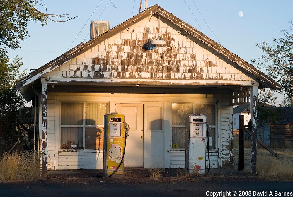 Deserted gas station, Eastern Oregon, United States