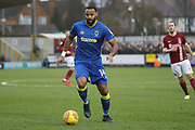 AFC Wimbledon midfielder Liam Trotter (14) dribbling during the EFL Sky Bet League 1 match between AFC Wimbledon and Northampton Town at the Cherry Red Records Stadium, Kingston, England on 10 February 2018. Picture by Matthew Redman.