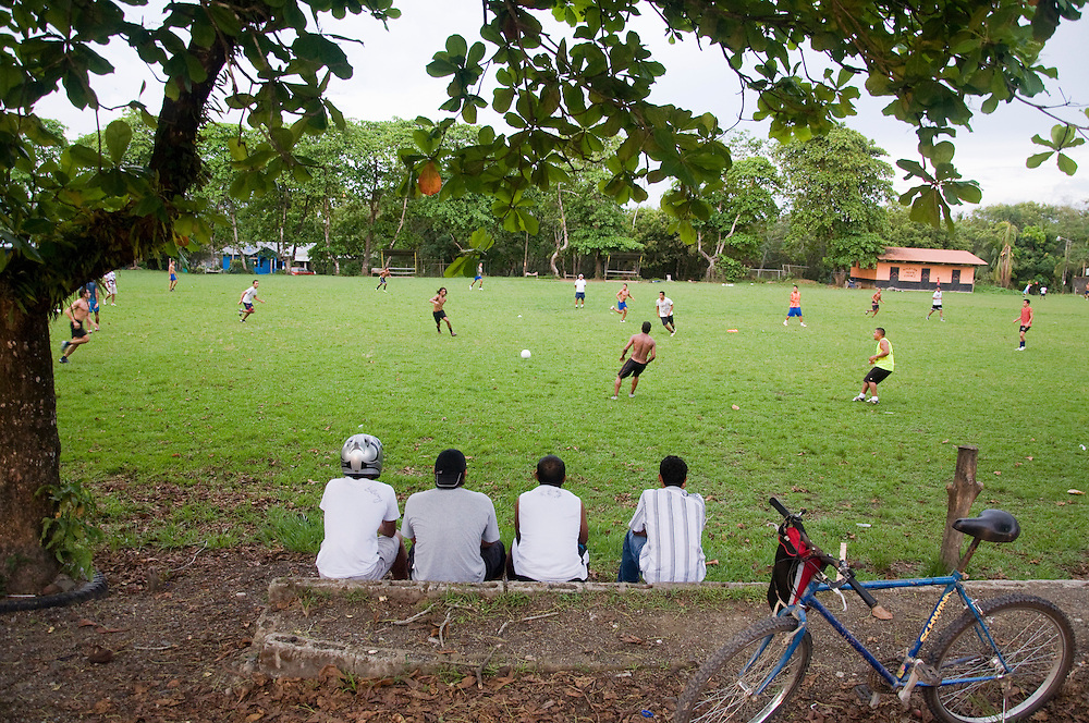 A soccer match in Puerto Jimenez, Costa Rica on April 24, 2009.  (Photo/William Byrne Drumm)