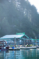 Kelly's Marina on Nehalem Bay along the Oregon coast.