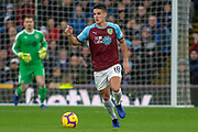 Burnley midfielder Ashley Westwood (18) during the Premier League match between Burnley and West Ham United at Turf Moor, Burnley, England on 30 December 2018.