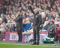 Football - 2018 / 2019 EFL Sky Bet League One - Play-Off Semi-Final, Second Leg: Charlton Athletic (2) vs. Doncaster Rovers (1)<br /> <br /> Charlton Athletic manager Lee Bowyer acknowledges the fans, at The Valley.<br /> <br /> COLORSPORT/ASHLEY WESTERN