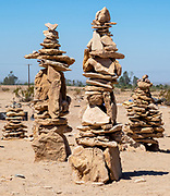 Rock Pile Art Sculptures in Slab City