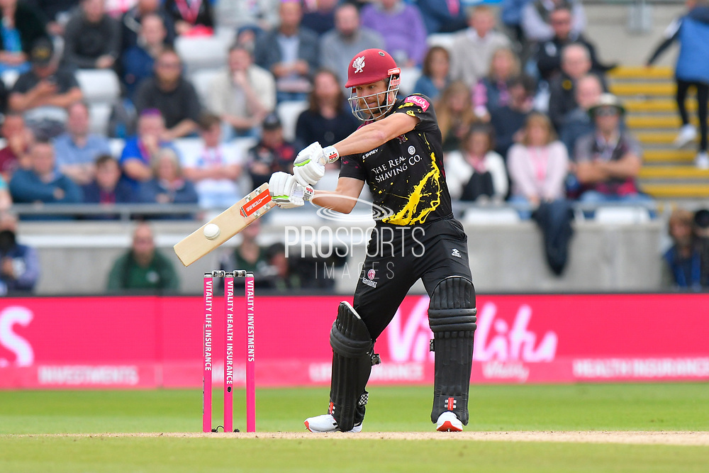 James Hildreth of Somerset batting during the Vitality T20 Finals Day semi final 2018 match between Sussex Sharks and Somerset County Cricket Club at Edgbaston, Birmingham, United Kingdom on 15 September 2018.