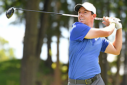 June 25, 2017 - Cromwell, Connecticut, U.S - Rory McIlroy tees off the 18th tee during the final round of the Travelers Championship at TPC River Highlands in Cromwell, Connecticut. (Credit Image: © Brian Ciancio via ZUMA Wire)