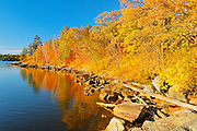 Lake of the Woods in autumn<br /> Nestor Falls<br /> Ontario<br /> Canada