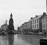 Towns in Ireland, The Diamond, Monaghan Town.04/04/1957