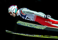 Simon Ammann of Switzerland competes during FIS World Cup Ski Jumping in Wisla...Poland, Wisla, January 09, 2013...Picture also available in RAW (NEF) or TIFF format on special request...For editorial use only. Any commercial or promotional use requires permission...Photo by © Adam Nurkiewicz / Mediasport