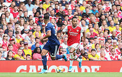 Pierre-Emerick Aubameyang of Arsenal runs at the Lyon defence - Mandatory by-line: Arron Gent/JMP - 28/07/2019 - FOOTBALL - Emirates Stadium - London, England - Arsenal v Olympique Lyonnais - Emirates Cup