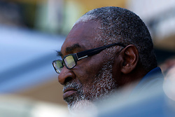 July 31, 2011; Stanford, CA, USA;  Richard Williams watches his daughter Serena Williams (USA), not pictured, play against Marion Bartoli (FRA), not pictured, during the finals of the Bank of the West Classic women's tennis tournament at the Taube Family Tennis Stadium.