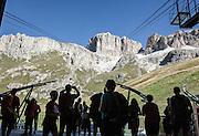 Trentino, funivia del Sass Pordoi