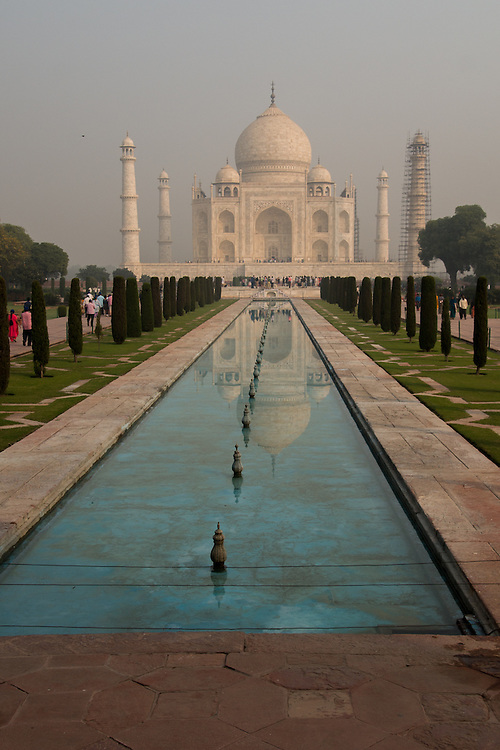 The Taj Mahal is a mausoleum in Agra, India.  It was built in the memory of Mumtaz Mahal, a Persian princess married to the Mughal emperor, Shah Jahan.