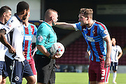 Scott Laird  during the Sky Bet League 1 match between Scunthorpe United and Millwall at Glanford Park, Scunthorpe, England on 22 August 2015. Photo by Ian Lyall.