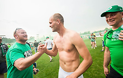 Aris Zarifovic of NK Olimpija celebrate after they became Slovenian National Champion 2018 after the football match between NK Domzale and NK Olimpija Ljubljana in 36th Round of Prva liga Telekom Slovenije 2017/18, on May 27, 2018 in Sports park Domzale, Domzale, Slovenia. Photo by Vid Ponikvar / Sportida