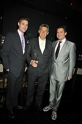 Left to right, GEORGE TAYLOR, NICHOLAS TAYLOR and EDWARD TAYLOR at the launch of the new Chinawhite at 4 Winsley Street, London on 21st October 2009.