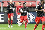 06-11-2016: Voetbal: FC Utrecht v Excelsior: Utrecht<br /> <br /> (L-R) Excelsior speler Nigel Hasselbaink scoort de 1-2 tijdens het Eredivsie duel tussen FC Utrecht en Excelsior op 6 november 2016 in stadion Galgenwaard tijdens speelronde 12<br /> <br /> Eredivisie - Seizoen 2016 / 2017<br /> <br /> Foto: Gertjan Kooij