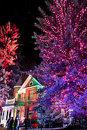 The historic Sardy House Christmas tree lighting ceremony in December in Aspen, Colorado.