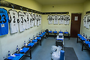 Forest Green Rovers dressing room during the Vanarama National League match between Southport and Forest Green Rovers at the Merseyrail Community Stadium, Southport, United Kingdom on 17 April 2017. Photo by Shane Healey.