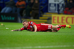 BOLTON, ENGLAND - Saturday, January 21, 2011: Liverpool's Craig Bellamy rues a missed chance against Bolton Wanderers during the Premiership match at the Reebok Stadium. (Pic by David Rawcliffe/Propaganda)