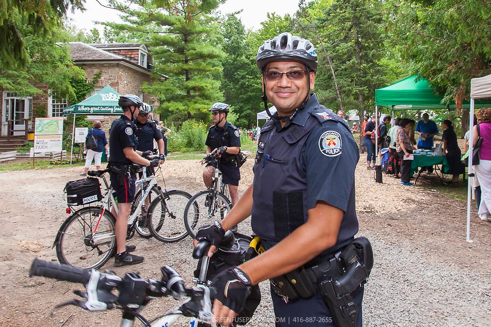 Toronto Police Sergeant Jason Kraft at the Black Creek Community Farm Festival - June 26, 2014.