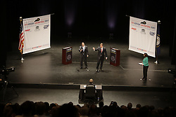 Democrat Jack Conway faced Republican Matt Bevin in a gubernatorial debate, Tuesday, Oct. 06, 2015 at Newlin Hall at Centre College in Danville. <br /> <br /> Photo by Jonathan Palmer, Special to the CJ