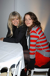Left to right, JO WOOD and her daughter LEAH WOOD at a fashion show featuring the Miss Selfridge Autumn/Winter '05 collections held at The Wallace Collection, Manchester Square, London W1 on 6th April 2005.<br /><br />NON EXCLUSIVE - WORLD RIGHTS