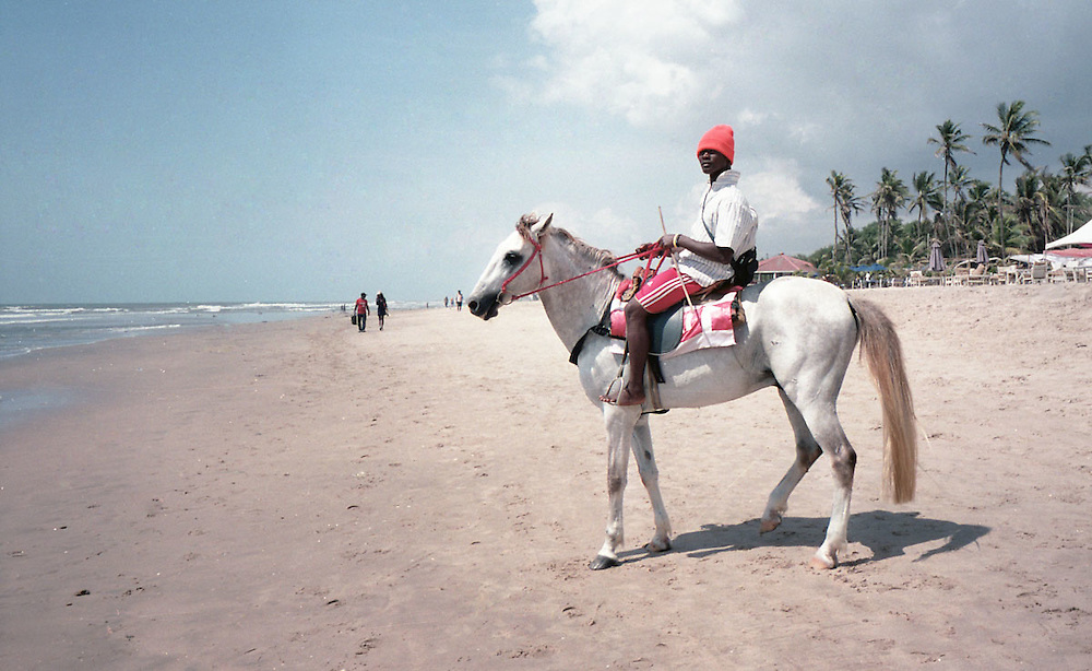 Horse riding on Labadi beach, Accra, Ghana 2011