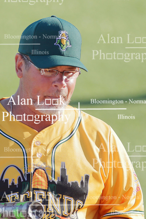 "29 July 2017: Mitch ""Wild Thing"" Williams  - Legends Baseball game sponsored by the Normal CornBelters at Corn Crib Stadium on the campus of Heartland Community College in Normal Illinois"
