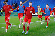 Wales defender Ben Davies warming up during the Friendly match between Wales and Belarus at the Cardiff City Stadium, Cardiff, Wales on 9 September 2019.