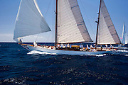 Belle Aventure at the Antigua Classic Yacht Regatta