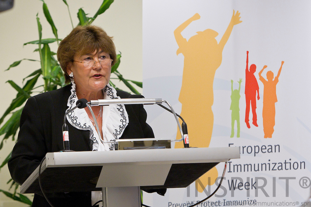 BRUSSELS - BELGIUM - 26 APRIL 2011 - - WHO European Immunization Week 2011 - - Zsuzsanna Jakab, Regional Director, WHO Regional Office for Europe.  Photo: Erik Luntang / INSPIRIT Photo