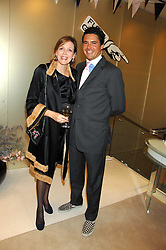 The COUNTESS OF WOOLTON and EDWARD TAYLOR  at a party to launch jeweller Boodles new store at 178 New Bond Street, London W1 on 26th September 2007.<br />