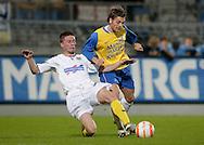 31-10-2007: Voetbal: KNVB Beker RKC Waalwijk - BV Veendam: Waalwijk<br /> Benjamin de Ceulaer in duel met Erwin Buurmeijer.<br /> Foto: Dennis Spaan
