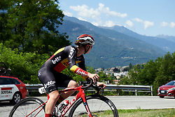 Lotte Kopecky (BEL) during Stage 6 of 2019 Giro Rosa Iccrea, a 12.1 km individual time trial from Chiuro to Teglio, Italy on July 10, 2019. Photo by Sean Robinson/velofocus.com