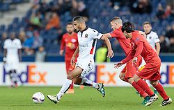 20.10.2016, Red Bull Arena, Salzburg, AUT, UEFA EL, FC Red Bull Salzburg vs OGC Nizza, Gruppe I, im Bild Younes Belhanda (OGC Nice), Josip Radosevic (FC Red Bull Salzburg), Takumi Minamino (FC Red Bull Salzburg) // Younes Belhanda (OGC Nice), Josip Radosevic (FC Red Bull Salzburg), Takumi Minamino (FC Red Bull Salzburg) during the UEFA Europa League group I match between FC Red Bull Salzburg and OGC Nizza at the Red Bull Arena in Salzburg, Austria on 2016/10/20. EXPA Pictures © 2016, PhotoCredit: EXPA/ JFK