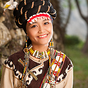 Rukai Tribe Girl ???, One of Taiwan's 14 officially recognized tribes, Taiwan Indigenous Peoples Culture Park, Sandimen, Pingtung County, Taiwan