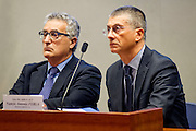 Rome dec 15th 2015, Direzione Investigativa Antimafia (Anti-Mafia Investigations Bureau) annual report. In the picture Franco Roberti, Nunzio Antonio Ferla