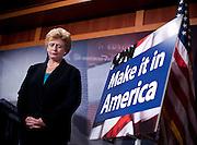 Sep 28, 2010 - Washington, District of Columbia, U.S., - Senator Debbie Stabenow, (D-MI) and Senator Bernie Sanders, (I-VT)  hold a news conference to discuss how Republicans are defending CEOs who ship American jobs overseas..(Credit Image: © Pete Marovich/ZUMA Press)