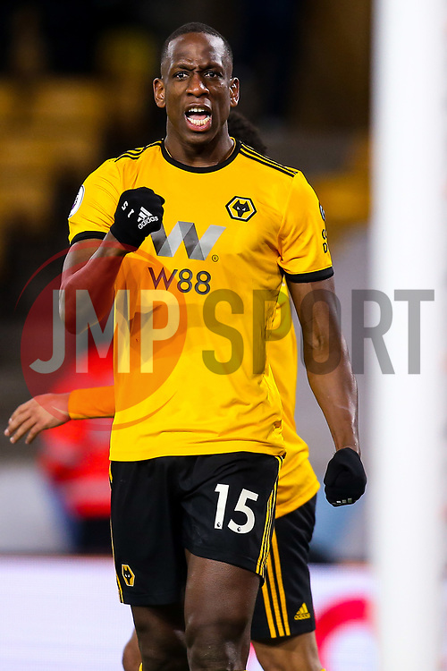 Willy Boly of Wolverhampton Wanderers celebrates scoring a goal to make it 1-1 - Mandatory by-line: Robbie Stephenson/JMP - 11/02/2019 - FOOTBALL - Molineux - Wolverhampton, England - Wolverhampton Wanderers v Newcastle United - Premier League