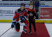 KELOWNA, CANADA - OCTOBER 13:  Second Star of the game Kole Lind #16 of the Kelowna Rockets at the Kelowna Rockets game on October 13, 2017 at Prospera Place in Kelowna, British Columbia, Canada.  (Photo By Cindy Rogers/Nyasa Photography,  *** Local Caption ***
