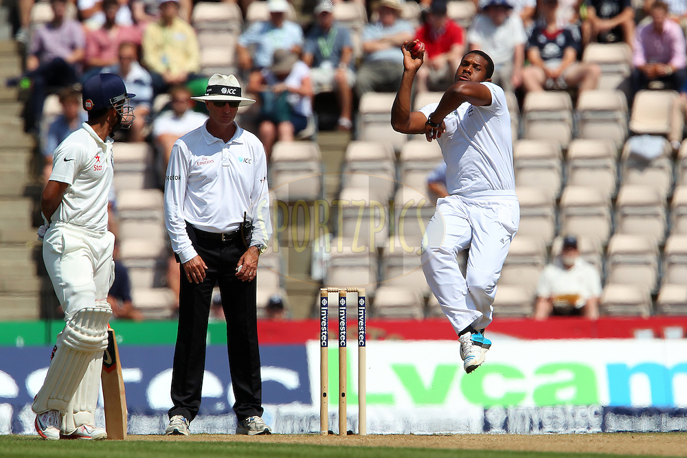 Chris Jordan of England during day three of the third Investec Test Match between England and India held at The Ageas Bowl cricket ground in Southampton, England on the 29th July 2014<br /> <br /> Photo by Ron Gaunt / SPORTZPICS/ BCCI