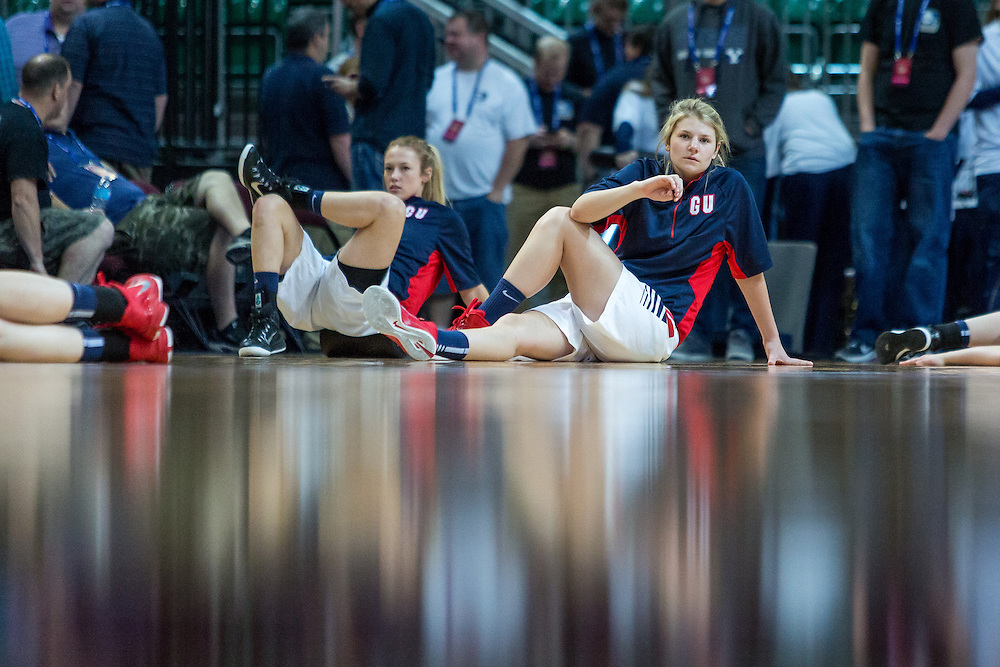 The Gonzaga women basketball team took on the BYU Cougars in the Orleans Arena in Las Vegas, NV. The Zags lost to the Cougars 55-61 in the semifinal round of the WCC Tournament.