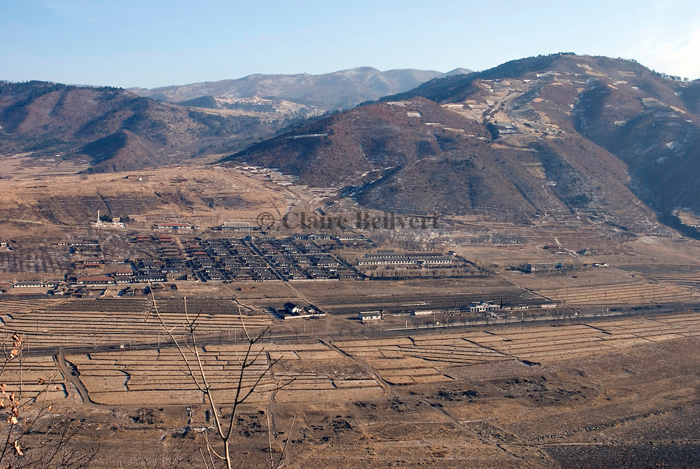 North korean collective farms. Most of the production will be given to military people staying in the area.